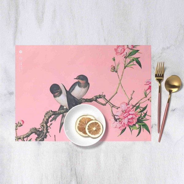 Placemat, Immortal Blossoms in an Everlasting Spring.Peach Blossom