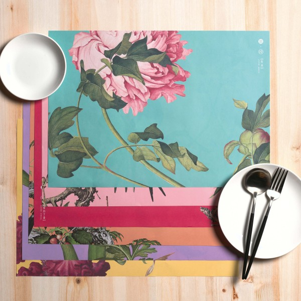 Placemat Variety Pack, Immortal Blossoms in an Everlasting Spring, 18pcs (6 Pieces each 3)