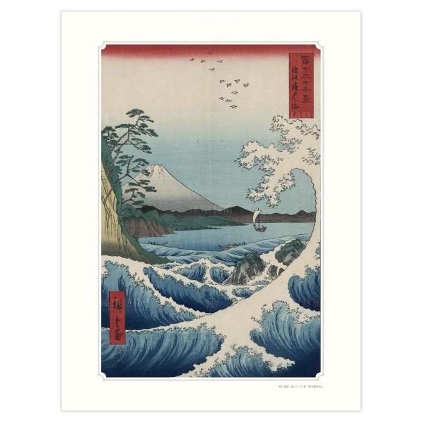 The Sea of Satta in Suruga Province, Thirty-six Views of Mount Fuji, Utagawa Hiroshige, Giclee (S)