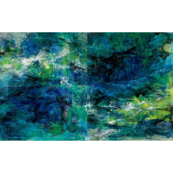 Chen Mei-hui, Green Cliff and Forest, Giclee