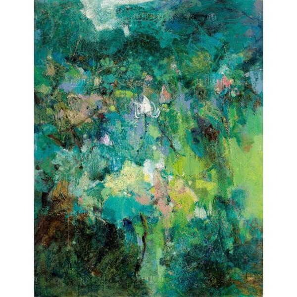 Chen Mei-hui, Green Lotus, Giclee
