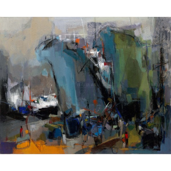Chen Mei-hui, Sailing out of the Port, Giclee