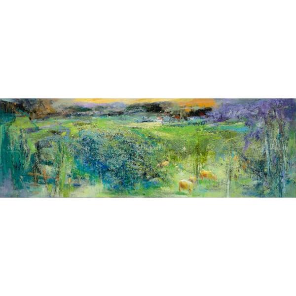 Chen Mei-hui, Wild Field, Low Sky, & Tree, Giclee