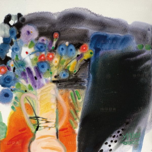 Chen Ming-shan, Floral Sentiment in Riotous Profusion, Giclee