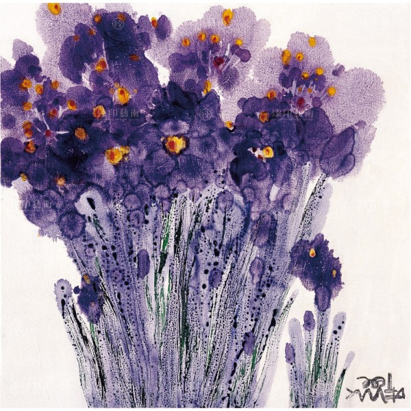 Chen Ming-shan, Rhythm of Violet Flowers, Giclee