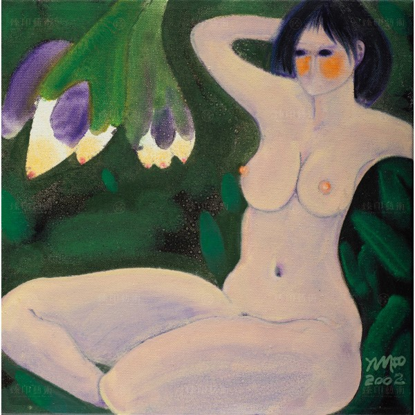 Chen Ming-shan, Naked Woman & Flowers, Giclee