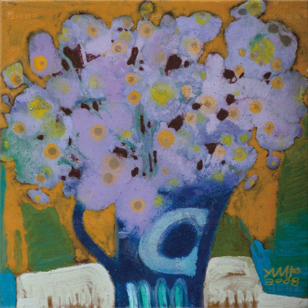 Chen Ming-shan, Purple Flowers, Giclee