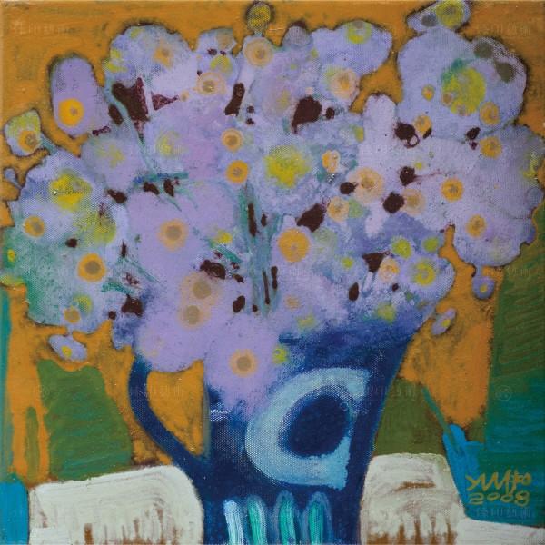 Chen Ming-shan, Purple Flowers, Giclee