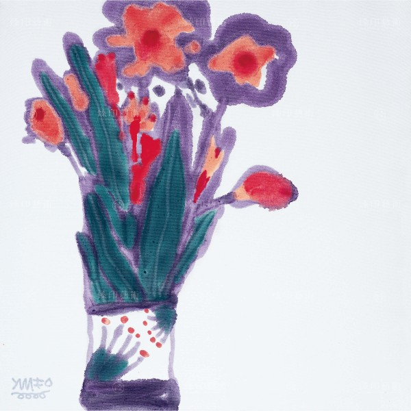 Chen Ming-shan, Flower Impression in Poetic Painting, Giclee