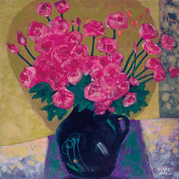 Chen Ming-shan, Indoor Roses, Giclee