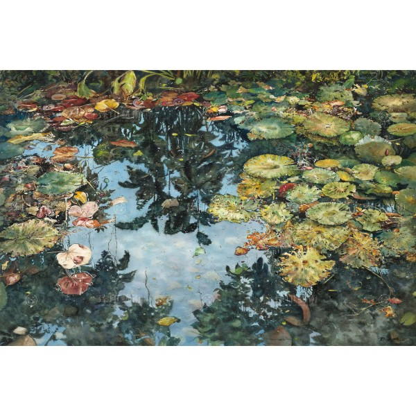 Kuo Hsin-i, Autumn Pond(L), Giclee