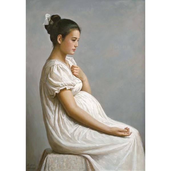 Li Zi-jian, Expecting Wife (M), Giclee
