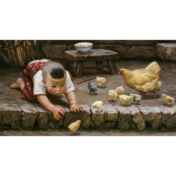 Li Zi-jian, Chick (M), Giclee