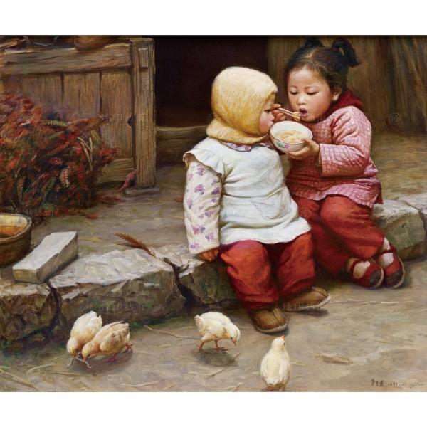 Li Zi-jian, Eating (S), Giclee