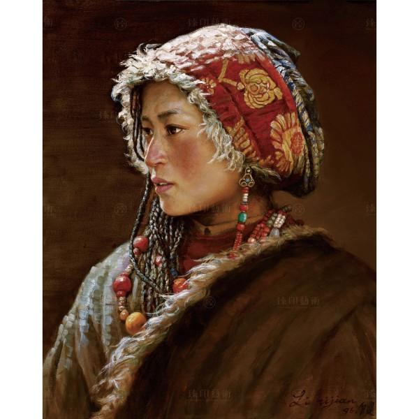 Li Zi-jian, Tibet Girl (S), Giclee