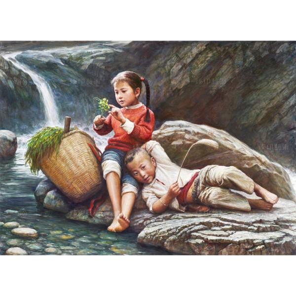 Li Zi-jian, Childhood in the Mountain (S), Giclee