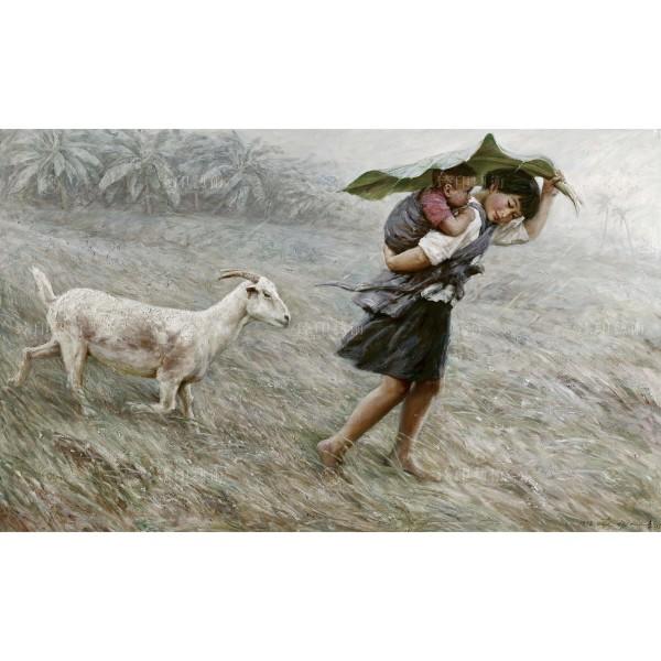 Li Zi-jian, Spring Rain (S), Giclee