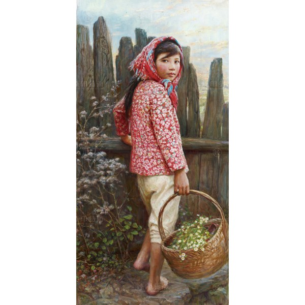 Li Zi-jian, Autumn Flower (L), Giclee