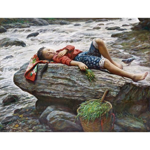 Li Zi-jian, Listening to Spring (M), Giclee