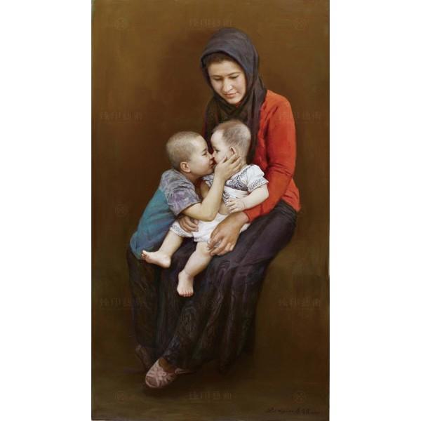 Li Zi-jian, Mother and Son (S), Giclee