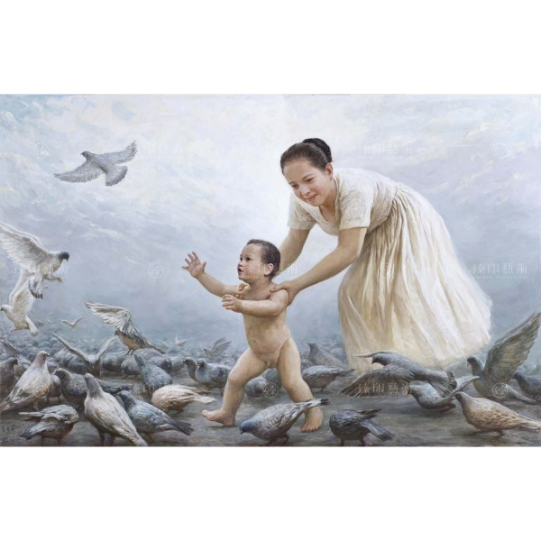 Li Zi-jian, Pigeon and Son (S), Giclee