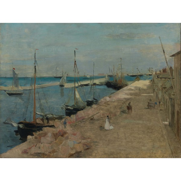 The Harbor at Cherbourg, Berthe Morisot, Giclée