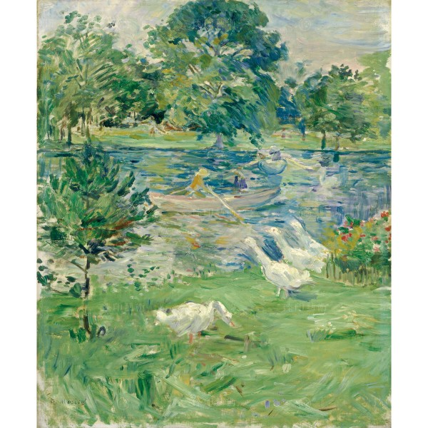 Girl in a boat with Geese, Berthe Morisot, Giclée