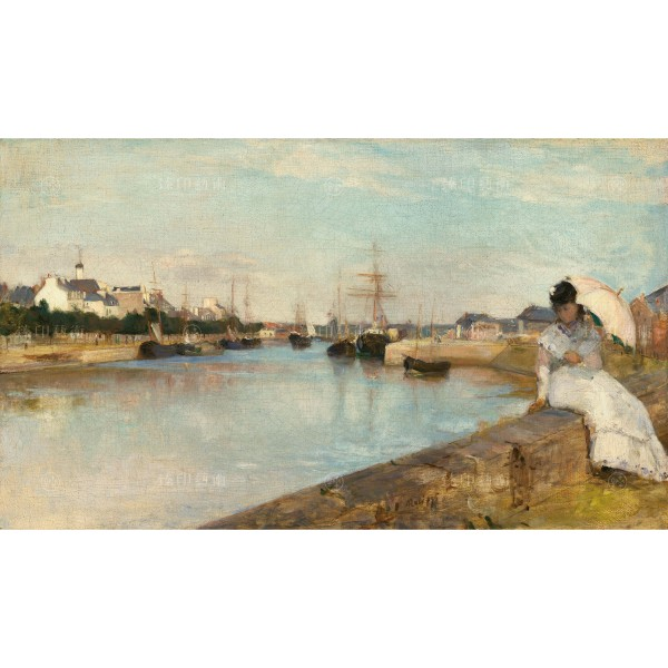 The Harbor at Lorient, Berthe Morisot, Giclée