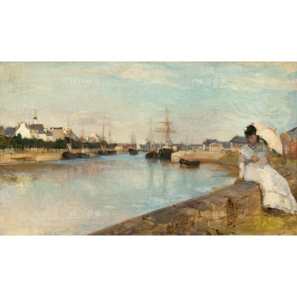 The Harbor at Lorient, Berthe Morisot, Giclée