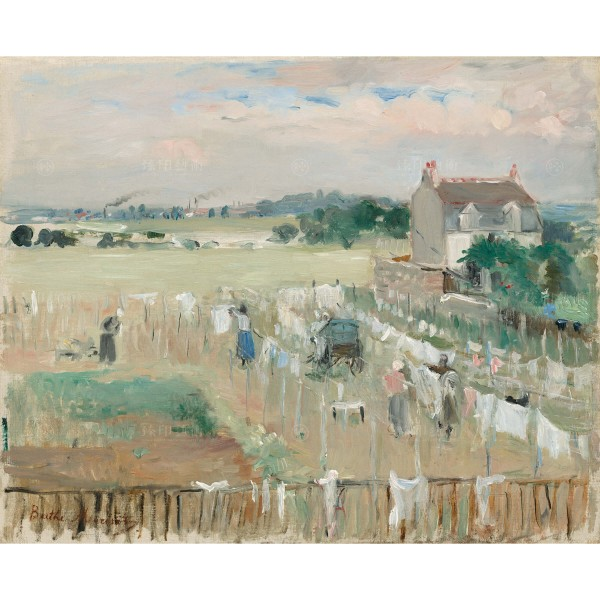 Hanging the Laundry out to Dry, Berthe Morisot, Giclée