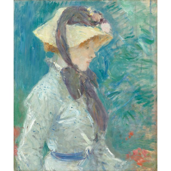 Young Woman with a Straw Hat, Berthe Morisot, Giclée