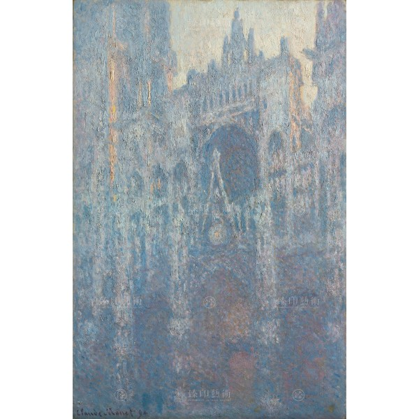 The Portal of Rouen Cathedral in Morning Light, Claude Monet, Giclée