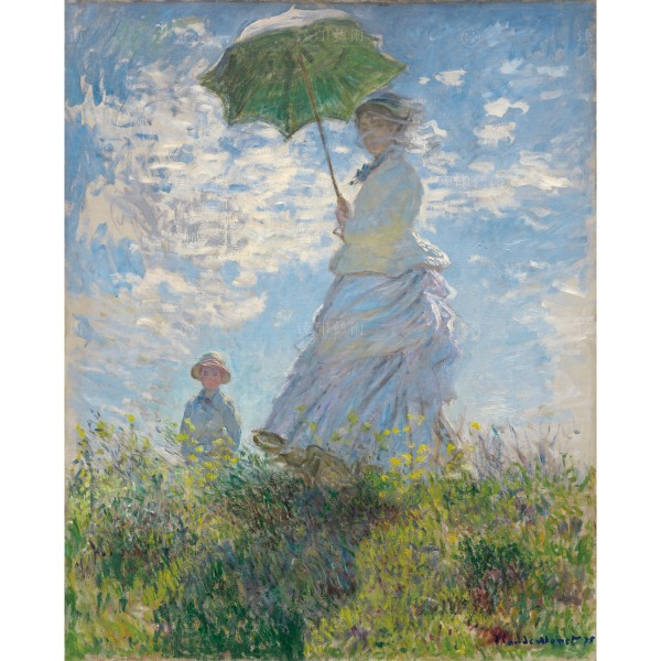 Woman with a Parasol - Madame Monet and Her Son, Claude Monet, Giclée