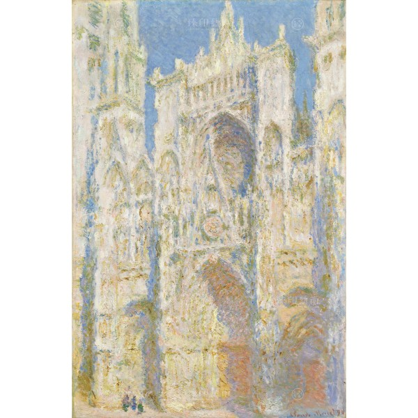 Rouen Cathedral, West Façade,Sunlight,Claude Monet, Giclée