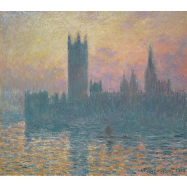 The Houses of Parliament・Sunset, Claude Monet, Giclée