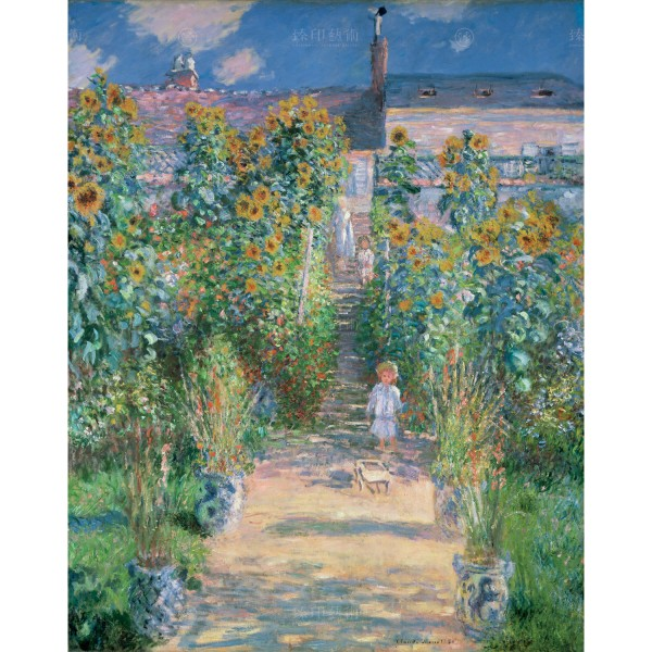 The Artist's Garden at Vétheuil, Claude Monet, Giclée