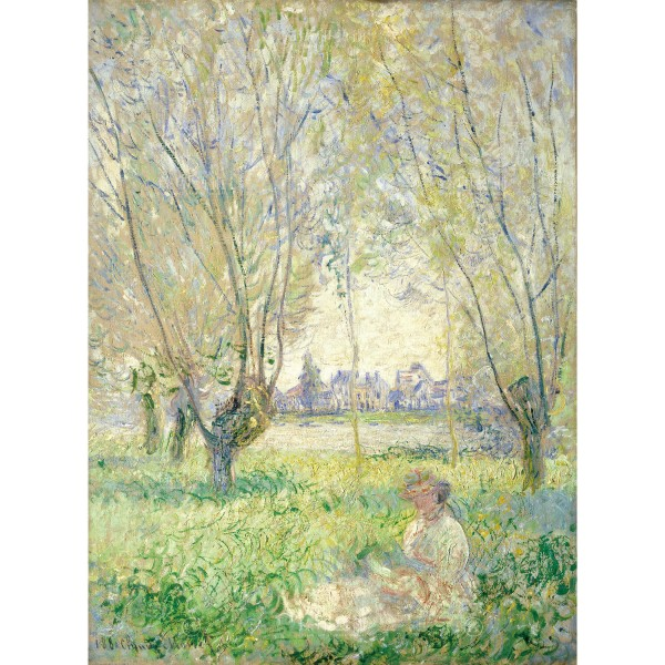 Woman Seated under the Willows, Claude Monet, Giclée