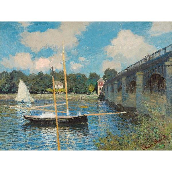 The Bridge at Argenteuil, Claude Monet, Giclée