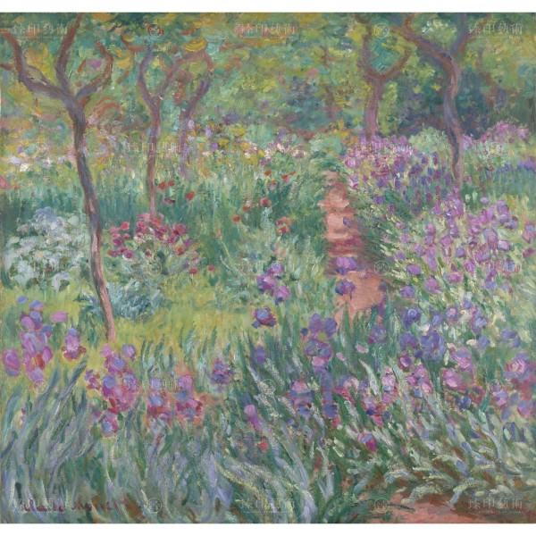 The Artist' s Garden in Giverny, Claude Monet, Giclée