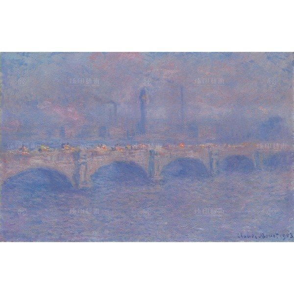 Waterloo Bridge, Sunlight Effect, Claude Monet, Giclée