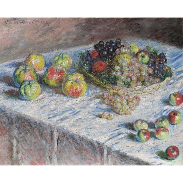 Apples and Grapes, Claude Monet, Giclée