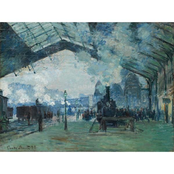 Arrival of the Normandy Train, Gare Saint-Lazare,Claude Monet, Giclée