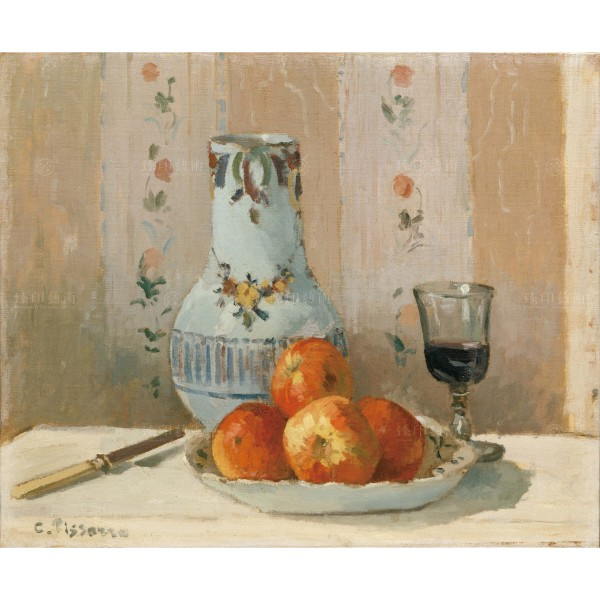 Still Life with Apples and Pitcher, Camille Pissarro, Giclée