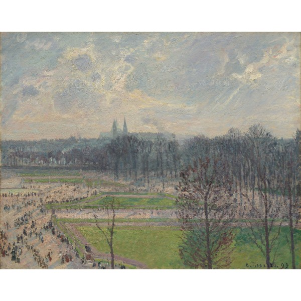 The Garden of the Tuileries on a Winter Afternoon, Camille Pissarro, Giclée