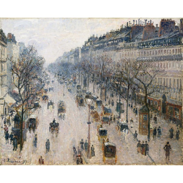 The Boulevard Montmartre on a Winter Morning, Camille Pissarro, Giclée