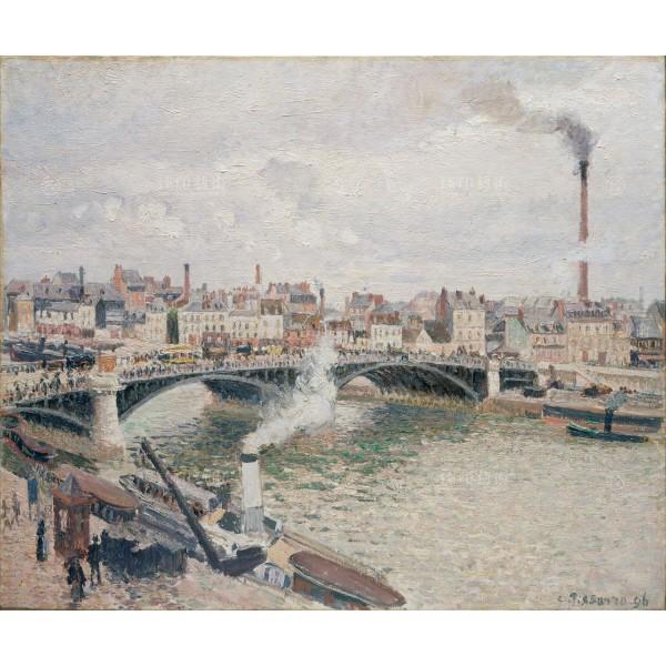 Morning, An Overcast Day, Rouen, Camille Pissarro, Giclée