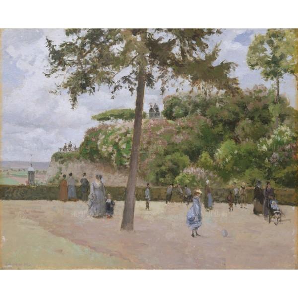 The Public Garden at Pontoise, Camille Pissarro, Giclée