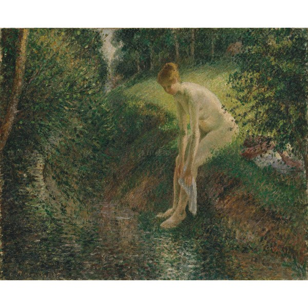 Bather in the Woods, Camille Pissarro, Giclée