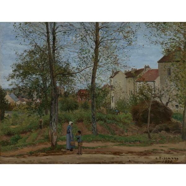 Landscape at Louveciennes (Autumn), Camille Pissarro, Giclée