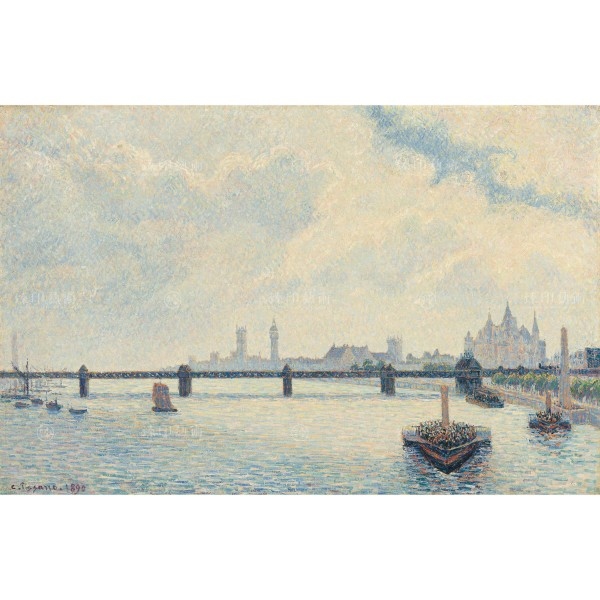 Charing Cross Bridge, London, Camille Pissarro, Giclée